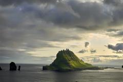 Dänemark,Färöer Inseln,Fágar,Sørvágur,Vogelinsel Tindjhólmur,Denmark, Faroe Islands, Fágar, Sørvágur, bird island Tindjhólmur