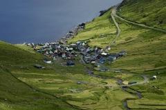 Dänemark,Färöer Inseln,Eysturoy,Stasse bei Funningurfjord,Denmark, Faroe Islands, Eysturoy, road at Funningur fjord,