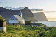 Dänemark,Färöer Inseln,Viðoy,Kirche von Viðareiði,Denmark, Faroe Islands, Viðoy, Church of Viðareiði,