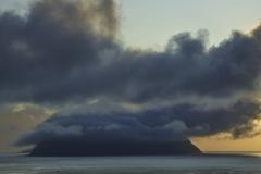Dänemark,Färöer Inseln,Vágar,Abendstimmung,Blick auf Insel Mykines,Denmark, Faroe Islands, Vágar, evening mood, view of Mykines island