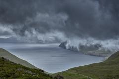 Dänemark,Färöer Inseln,Eysturoy,Blick auf  den Funningurfjord,Denmark, Faroe Islands, Eysturoy, view of the Funningur fjord
